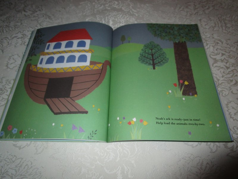 Image 8 of Noah's Ark Julie Lacome Sticker Stories with 75+ Reusable Stickers Brand New