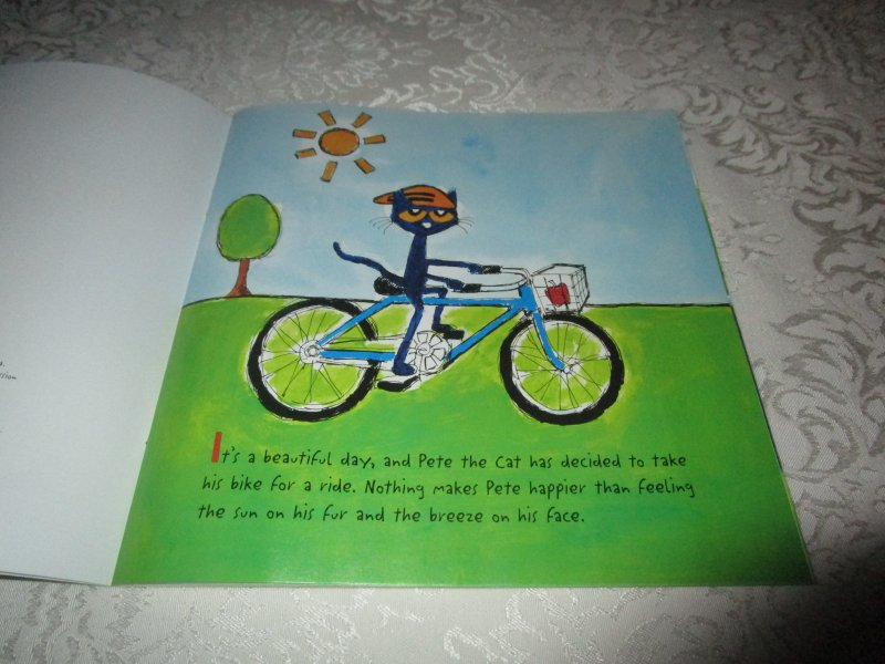 Image 1 of Pete the Cat Go, Pete, Go! James Dean Brand New SC with 30+ Stickers