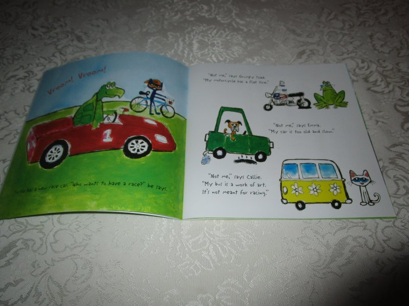 Image 2 of Pete the Cat Go, Pete, Go! James Dean Brand New SC with 30+ Stickers