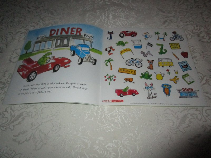 Image 4 of Pete the Cat Go, Pete, Go! James Dean Brand New SC with 30+ Stickers