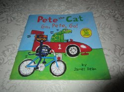 Pete the Cat Go, Pete, Go! James Dean Brand New SC with 30+ Stickers