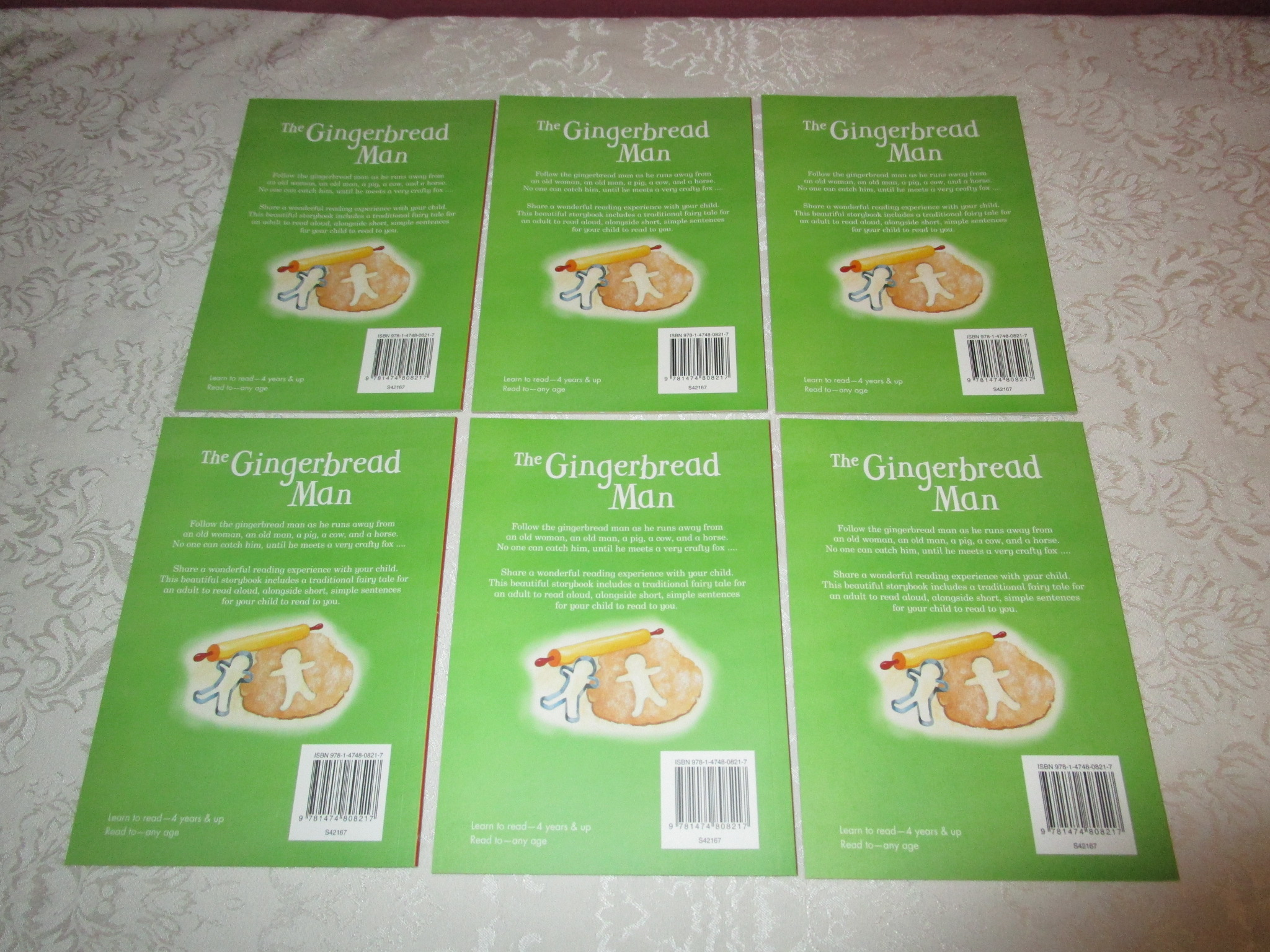 Image 1 of The Gingerbread Man Gail Yerrill Lot of 6 Brand New SC Reader Size