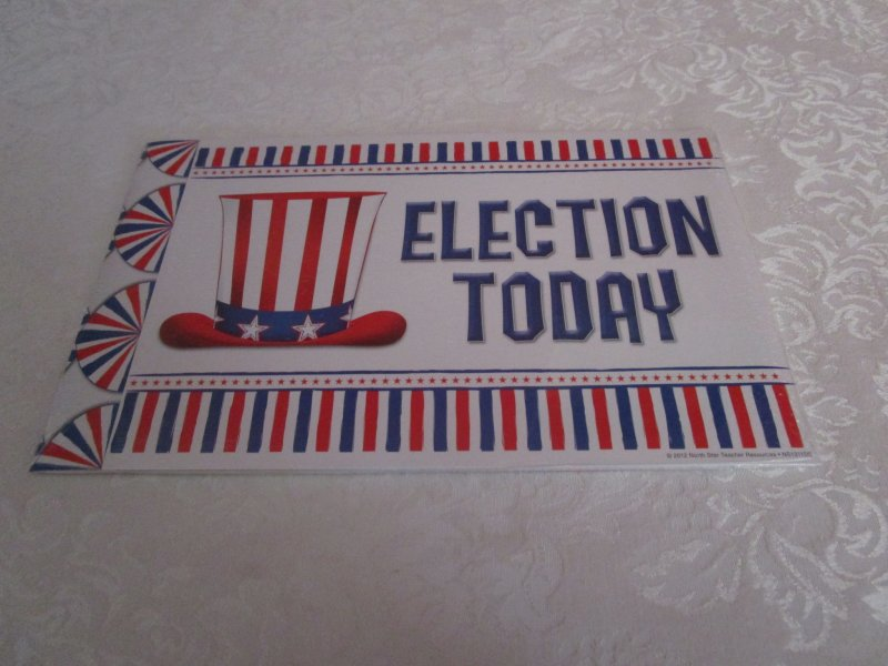 Image 1 of Patriotic Your Vote Counts! Mini Bulletin Board Set 49 Pieces