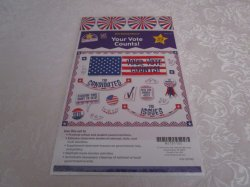 Patriotic Your Vote Counts! Mini Bulletin Board Set 49 Pieces