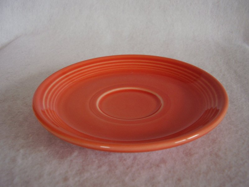 Image 1 of Fiesta Persimmon Saucer Fiestaware Contemporary