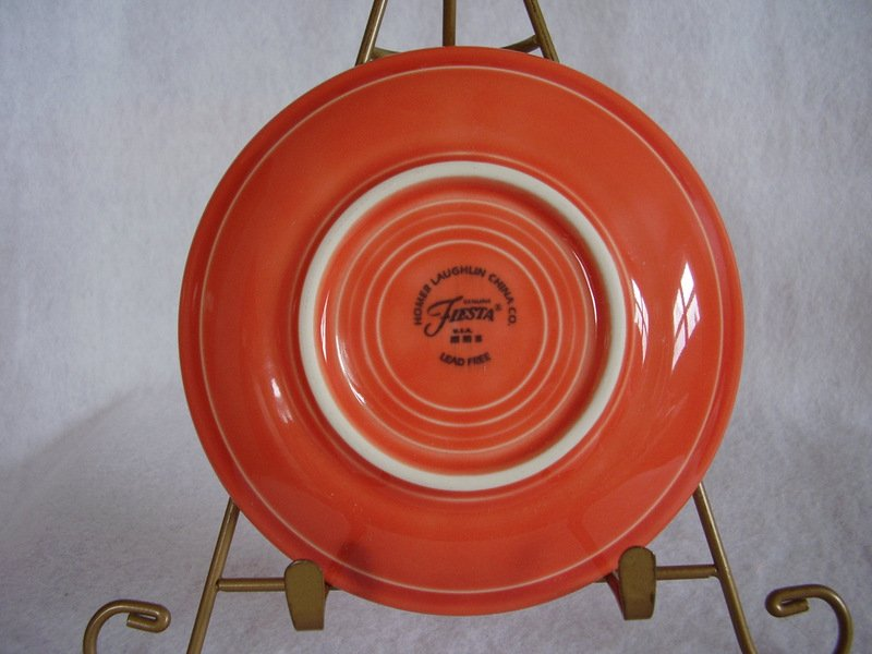 Image 2 of Fiesta Persimmon Saucer Fiestaware Contemporary