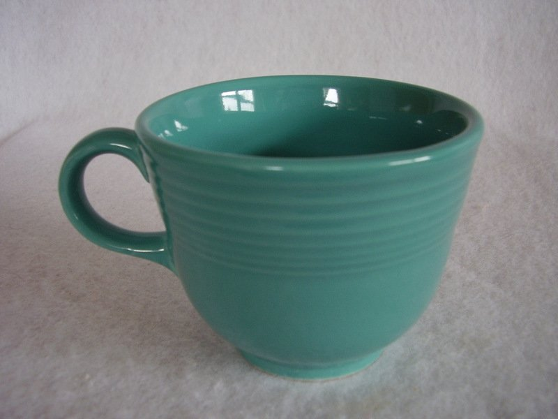 Image 1 of Fiesta Turquoise Coffee Cup Fiestaware Contemporary