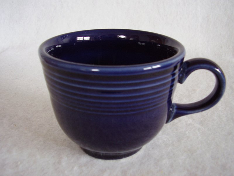 Image 1 of Fiesta Cobalt Coffee Cup Fiestaware Contemporary