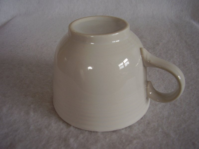 Image 2 of Fiesta White Coffee Cup Fiestaware Contemporary