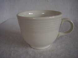 Fiesta White Coffee Cup Fiestaware Contemporary