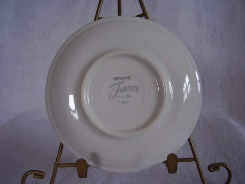 Image 2 of Fiesta White Saucer Fiesta Contemporary