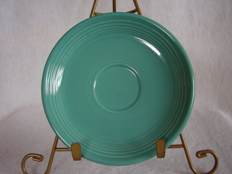 Image 0 of Fiesta Turquoise Teacup Saucer Fiestaware Contemporary