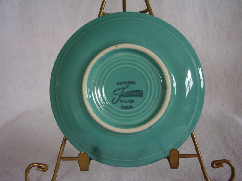 Image 2 of Fiesta Turquoise Teacup Saucer Fiestaware Contemporary