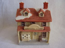 Colonial American Collection Porcelain Christmas Village House General Store