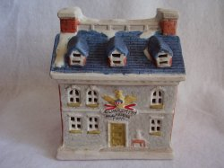 Colonial American Collection Porcelain Christmas Village House Silversmith Shop