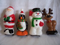 Santa Reindeer Penguin Snowman Pathway Light Toppers Christmas General Foam