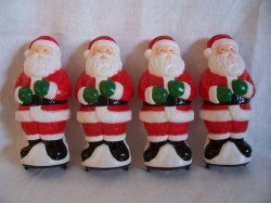 Santa Pathway Light Toppers Christmas General Foam Lot of 4