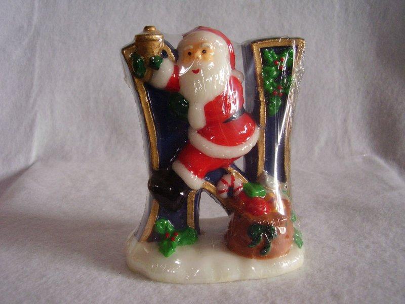Christmas Noel Santa Candles