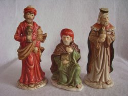 Nativity Creche Manger Figurines Ceramic The 3 Kings