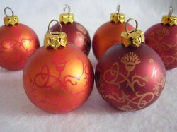 LBVYR Mini Christmas Plastic Ornaments Lot of 6