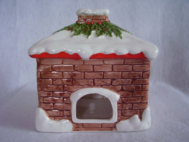 Christmas House Candle Holder