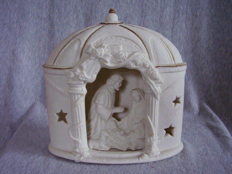 Illuminated Ceramic Nativity