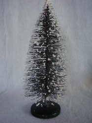 Bottle Brush Tree Vintage Style Green Putz Village 11 3/4 In Christmas Decor