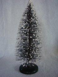 Bottle Brush Tree Vintage Style Green Putz Village 11 3/4 In Christmas Decor