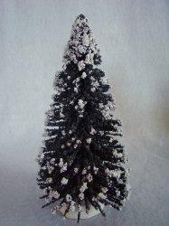 Bottle Brush Tree Vintage Style Green Putz Village 8 1/2 In Christmas Decoration