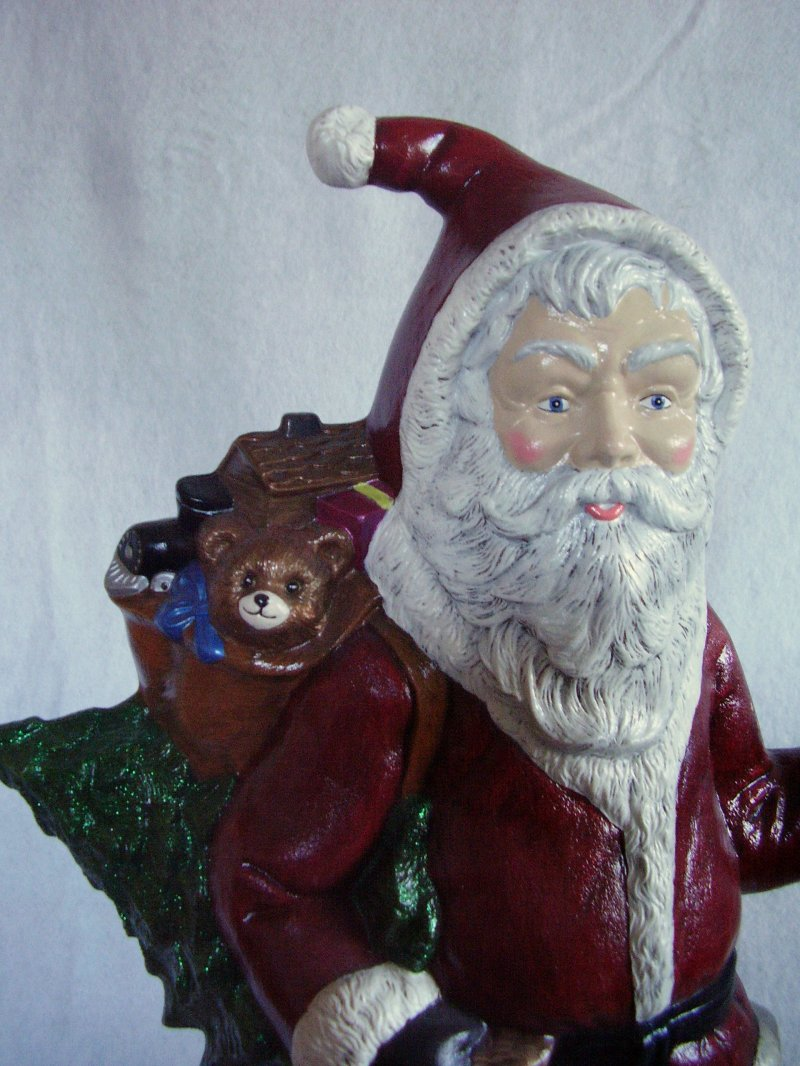 Illuminated Ceramic Santa