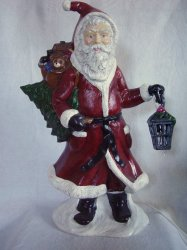 '.Illuminated Ceramic Santa.'