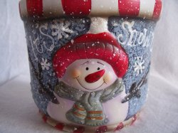 '.Snowman Cookie or Treat Jar.'