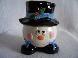 Christmas Frosty the Snowman Treat Candy Jar or Pet Treats