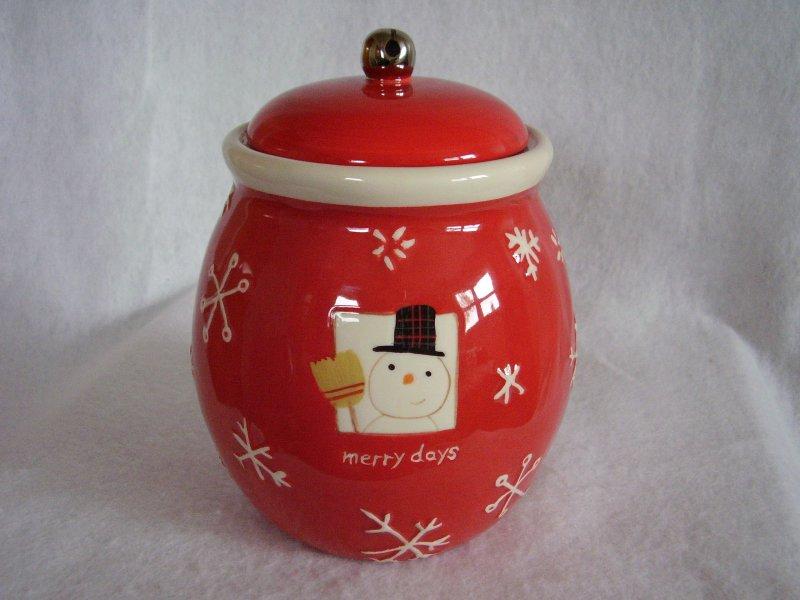 Merry Days Cookie Treat Jar
