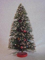 Vintage Christmas Bottle Brush Tree Mercury Glass Garland Silver Mica Glitter