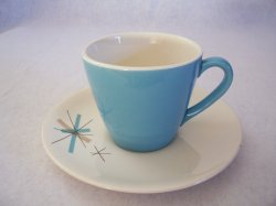 Eames Salem North Star Coffee Tea Cup Saucer MidCentury Modern