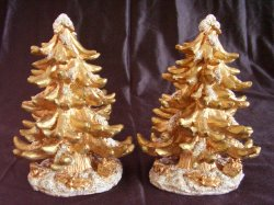 '.Gold Resin Christmas Trees.'