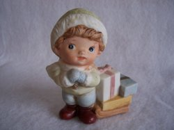 '.Homco 5556 Boy Girl Figurines.'