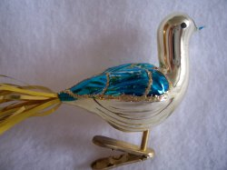 '.German Clip On Bird Ornament.'