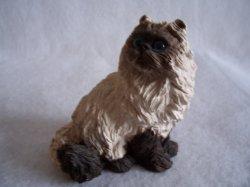 '.Himalayan Siamese Cat Figurine.'