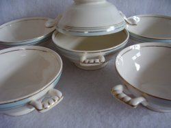 '.Knowles Lugged Soup Bowls.'