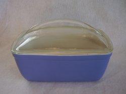 Vintage Hall Westinghouse Covered Loaf Casserole Dish Blue