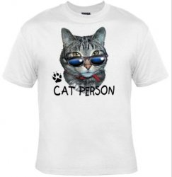 '.Cat Person T-Shirt.'