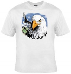 '.Majestic Eagle on White Shirt.'
