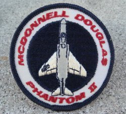 McDonnell Douglas Phantom II Patch, New, 1970s never used
