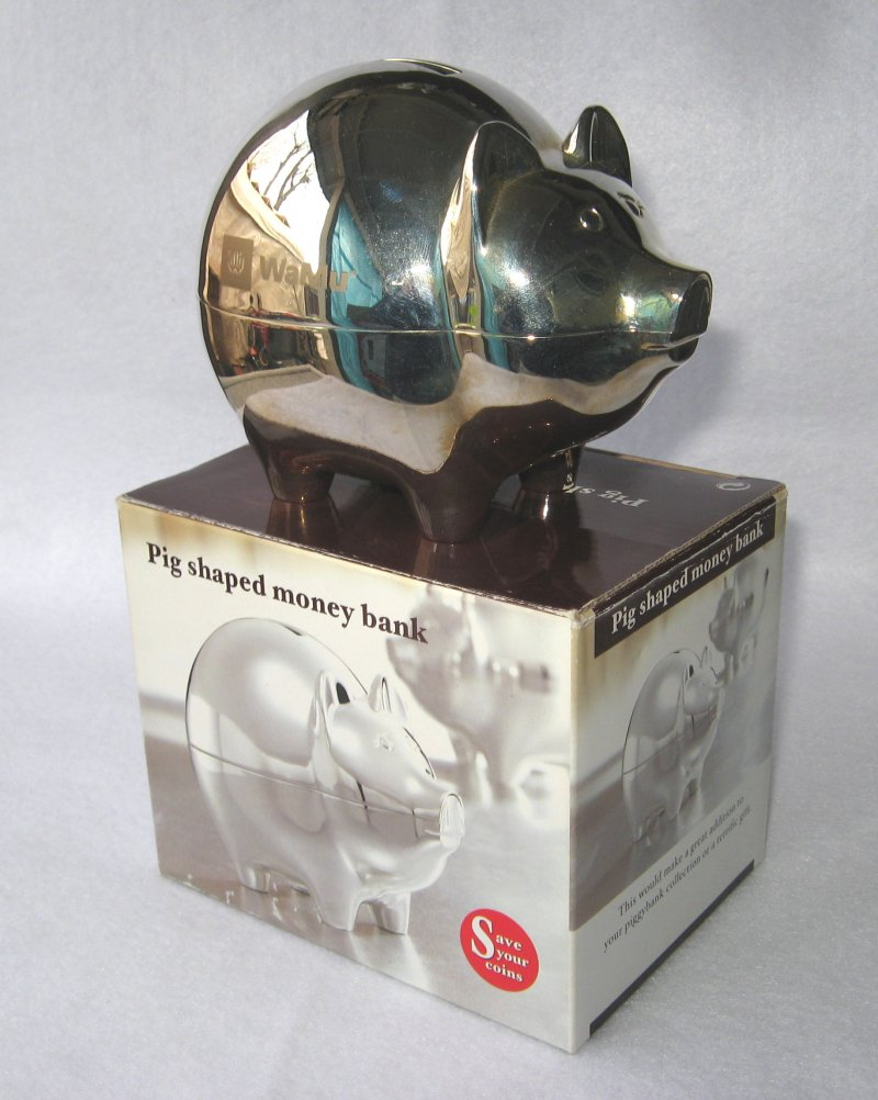 Silver Elegance 80889 Pewter Plated Elephant Bank