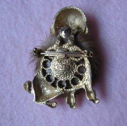 '.JJ Mink Poodle Pin, 1950s.'