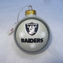 Oakland Raiders Christmas Tree Ornament Ball, Raiders Nation