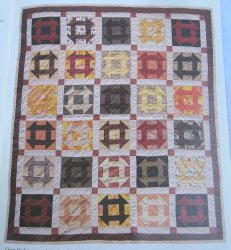 Churn Dash, Quilt Pattern with Actual Size Templates
