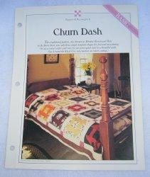 '.Quilt Pattern, Churn Dash.'